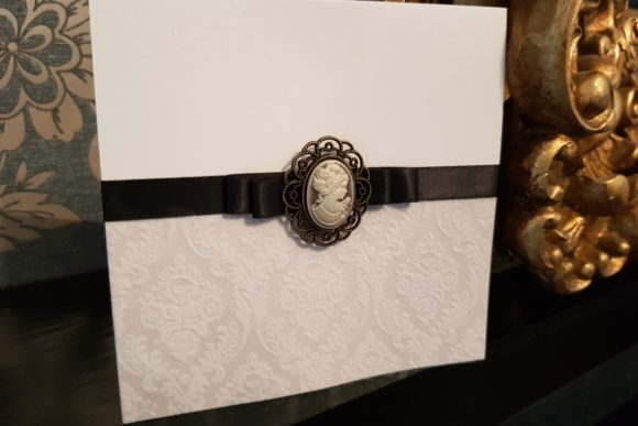 rococo-scottish-wedding-stationery-black-vintage