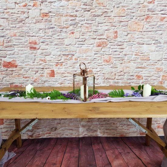 Rustic Trestle Tables