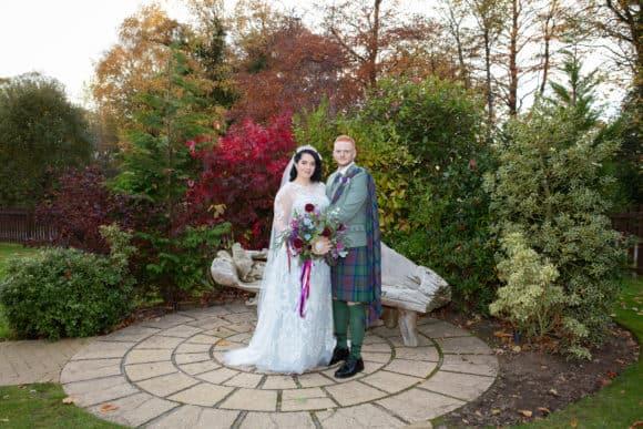 Corona Photographic-scottish-stirling-wedding-photographer-bride-groom-garden