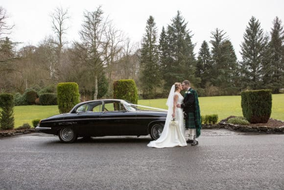Corona Photographic-scottish-stirling-wedding-photographer-car-bride-groom