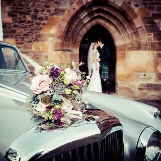 Corona Photographic-scottish-stirling-wedding-photographer-flower-car