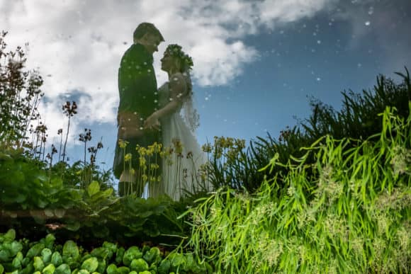 isaac-craig-photography-scottish-glasgow-wedding-photographer-bride-groom-water-reflection