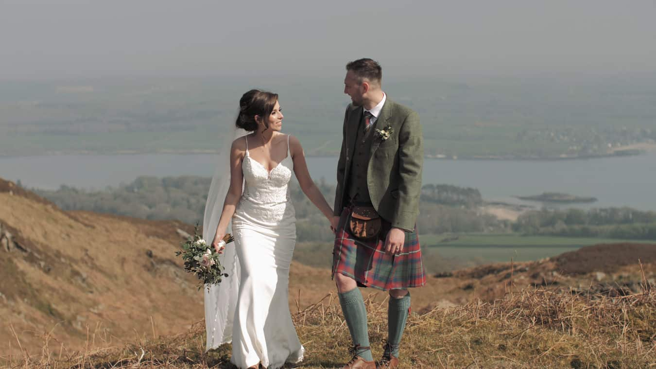 wooden-cinema-films-scottish-borders-wedding-videographer-bride-groom-flower-bouquet