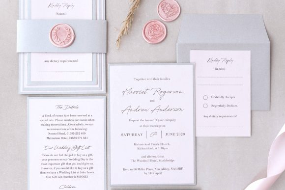 Luxury hand made wedding invites scotland