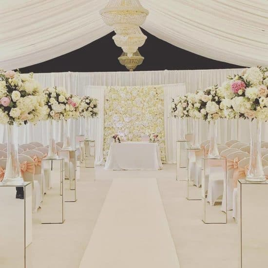 ivory-tower-scottish-glasgow-wedding-decor-hire-flowers-venue-supplier-directory-aisle-flower-marquee