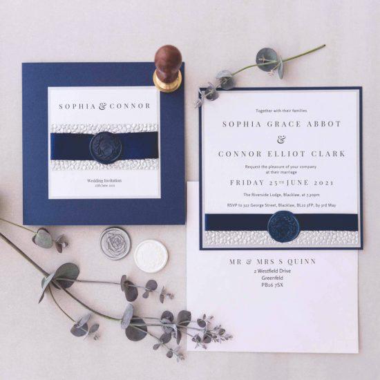 Handmade wax seal wedding invites Scotland