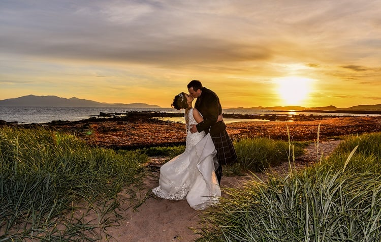 belvedere-scottish-ayrshire-wedding-photographer-bride-groom-beach-sea-coast