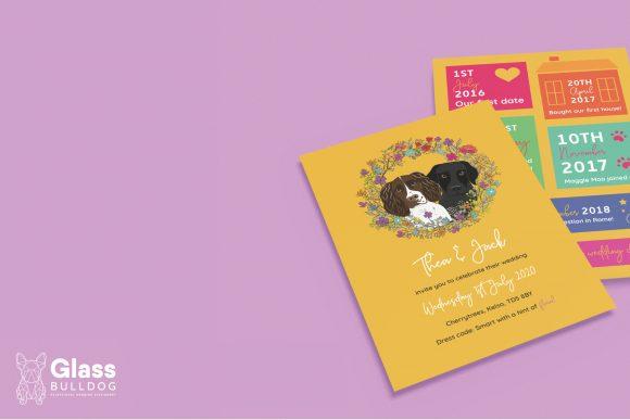 Bespoke wedding invitation