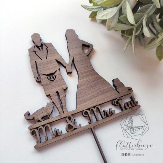 scottish-wedding-stationery-flutterbreeze-wooden-cake-topper