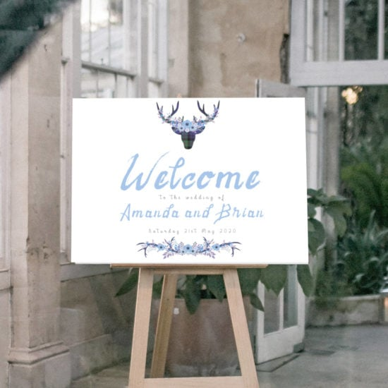 gingerandspice-scottish-wedding-stationery-welcome-sign-boho