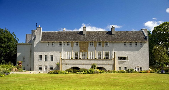 front-house-of-an-art-lover-glasgow-scottish-wedding-venue