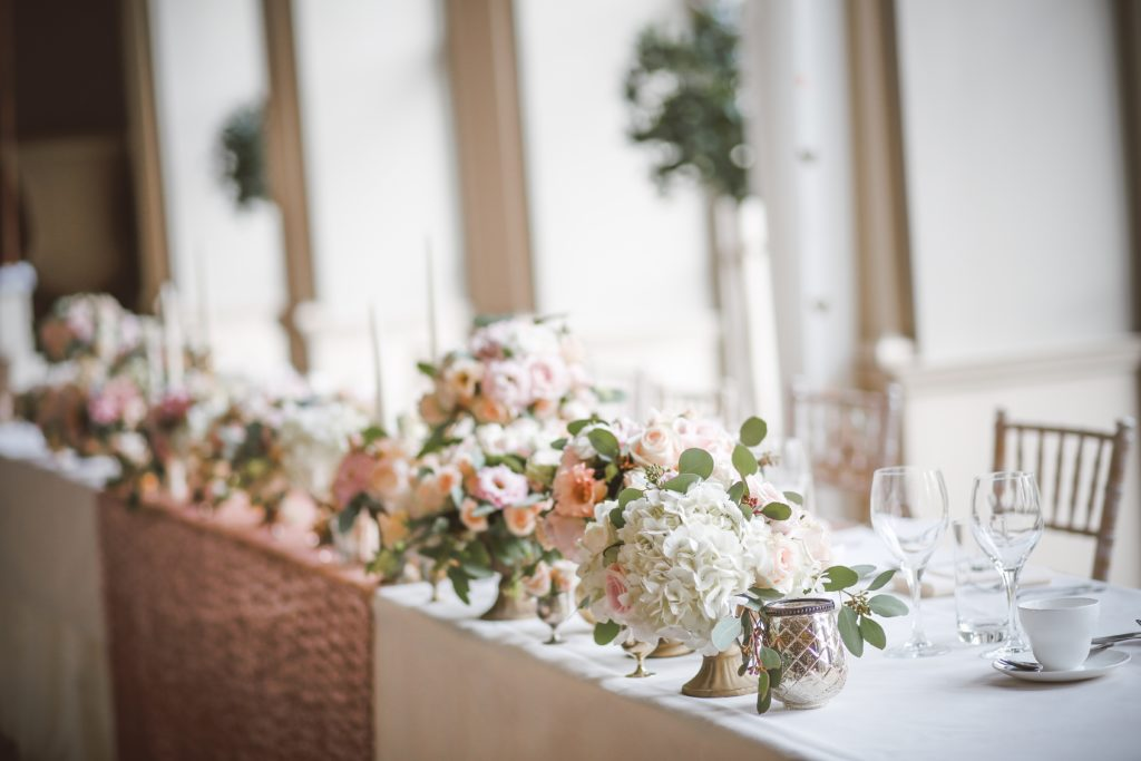 scottish wedding top table flowers suppliers catering