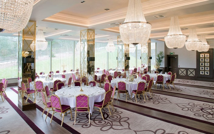 15 of the best wedding venues in Glasgow | Boclair-House-Wedding-Venue-Glasgow-Bearsden-Country-Scottish-Ballroom-reception