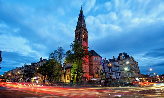15 of the best wedding venues in Glasgow | Oran-Mor-Historic-Church-Landmark-West-End-Glasgow-Scottish-Wedding-Venue-exterior