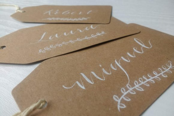 Juno-Calligraphy-Scottish-Wedding-Stationery-Kraft tags